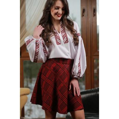 "Ukrainian Plakhta ""Ancient Times"" maroon"