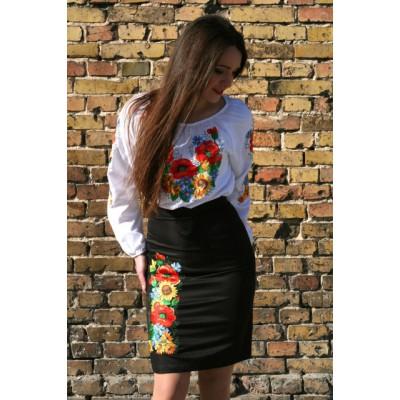 """Embroidered Skirt """"Ukrainian Bouquet"""""""