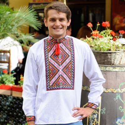 """Embroidered shirt """"Colourful 2"""""""