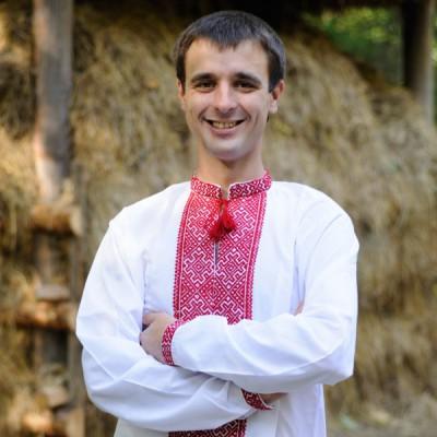 "Embroidered shirt ""Nyzynka Red"""