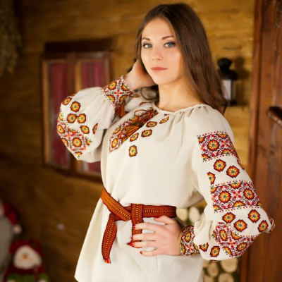 "Embroidered blouse ""Whisper of Autumn"""