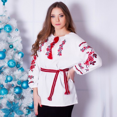 "Embroidered blouse ""Roses Medium"""