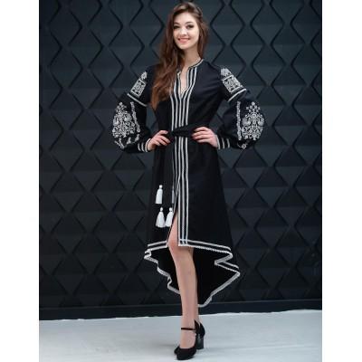 "Embroidered Boho Dress ""Contrasts"" black"