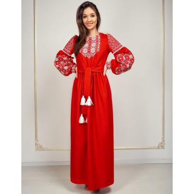 "Embroidered Boho Dress ""Pure Elegance"""