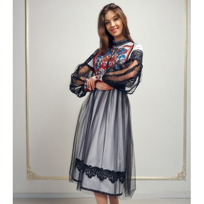 "Embroidered Boho Dress ""Bogema"""