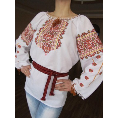 "Embroidered  blouse ""Amuleth for Wealth"""