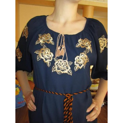 "Embroidered  blouse ""Golden Roses"""