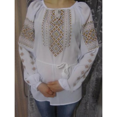 "Embroidered  blouse ""Golden Brown"""