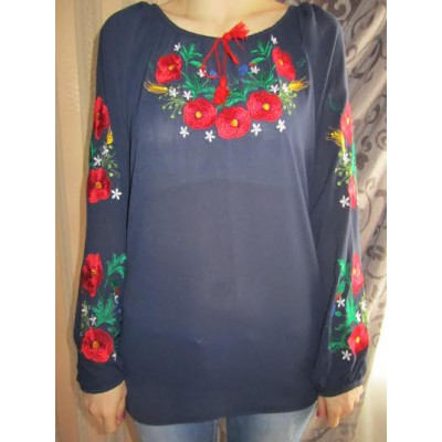 "Embroidered  blouse ""Passionate Poppies"""
