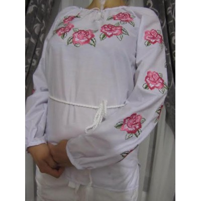 "Embroidered  blouse ""Roses&Purity"""