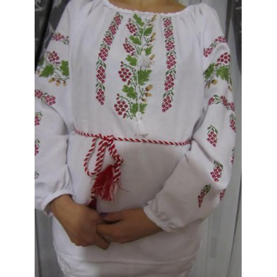 """Embroidered  blouse """"Stylish Grapes"""""""