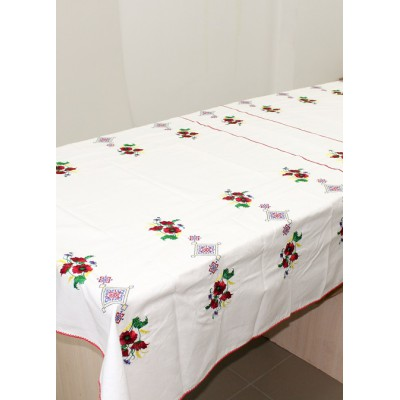 "Embroidered Tablecloth ""Wealth"""