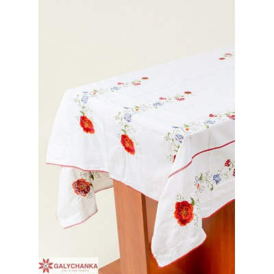 "Embroidered Tablecloth ""Bounty"""