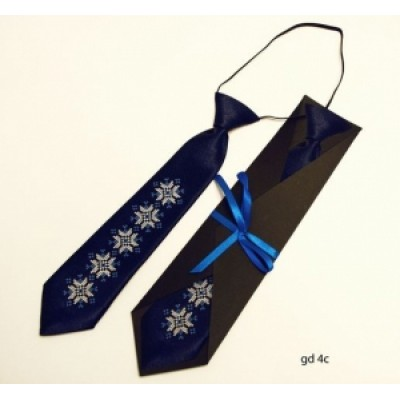 "Embroidered tie for a boy ""Blue"""