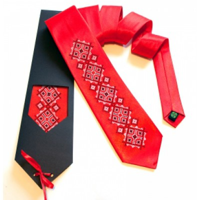 "Embroidered tie for men ""Gorun"""