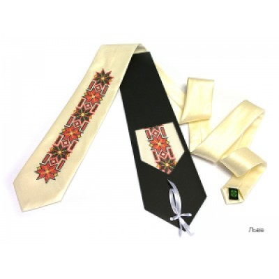 "Embroidered tie for men ""Lviv"""