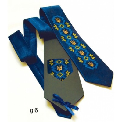 "Embroidered tie for men ""Glory"""