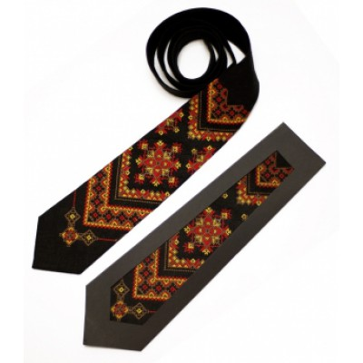 "Embroidered tie for men ""Ihor"""