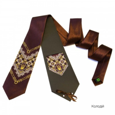 "Embroidered tie for men ""Kolodiy"""