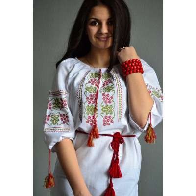 "Embroidered  blouse ""Sweet Currant"""