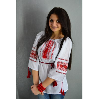 """Embroidered  blouse """"Summer Vacations"""""""