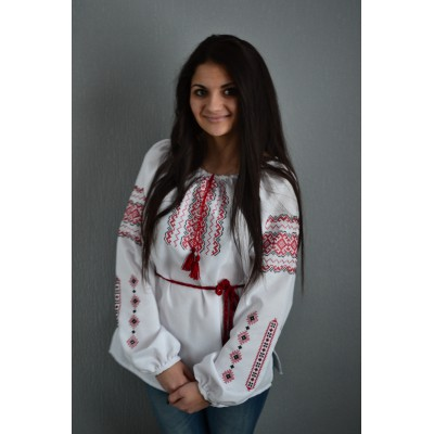 "Embroidered  blouse ""Whisper of Fire"""