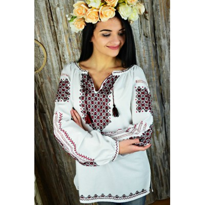 "Embroidered blouse ""Luxury Handmade"""