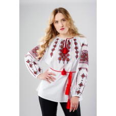 "Embroidered Blouse ""Shining Stars"" handmade"
