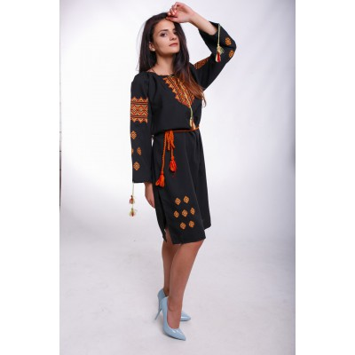 "Embroidered Classic Dress ""Dress Code"""