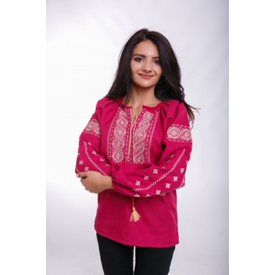 "Embroidered Blouse ""Happy Moments"" mauve"