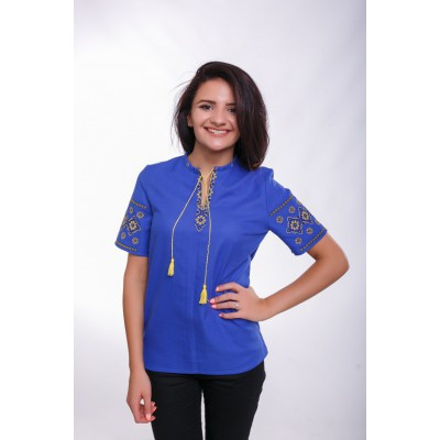 "Embroidered Blouse ""Herdan"" blue"