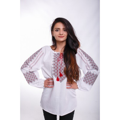 "Embroidered Blouse ""City Life"""