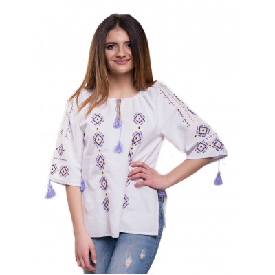 "Embroidered Blouse ""Loveliness"" handmade"