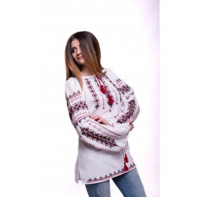 "Embroidered Blouse ""Luxury Cotton"" handmade"