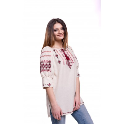 "Embroidered Blouse ""Breeze"" handmade"