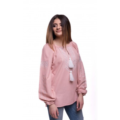 "Embroidered Blouse ""Happy Moments"" pink"