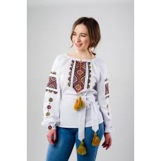 "Embroidered Blouse ""Rainbow Smile"""