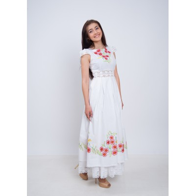 "Embroidered dress ""Cherry Bloom"""