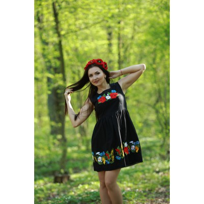 "Embroidered dress ""Contrasts Mini"""