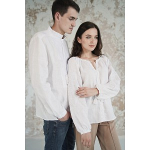 "Embroidered Man&Woman Set ""Lacy Dreams"" white"