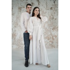 "Embroidered Man&Woman Set ""Grace"" white"
