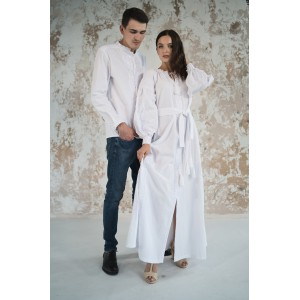 "Embroidered Man&Woman Set ""Fantasy"" white"