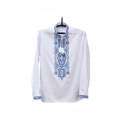 """Embroidered shirt """"Neptune Light"""""""
