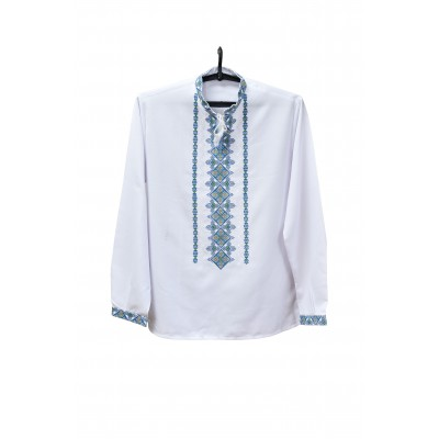 "Embroidered shirt ""Blue Peaks"""