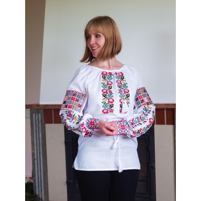 "Embroidered blouse ""Rainbow Flowers"""