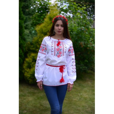 "Embroidered blouse ""Cute Roses 2"""