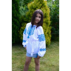 "Embroidered blouse for girl ""Sky Blue"""
