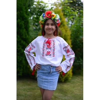 "Embroidered blouse for girl ""Pure Sweetness"""