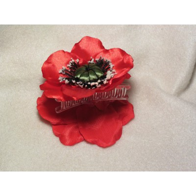 "Hairclip ""Poppy crab"""