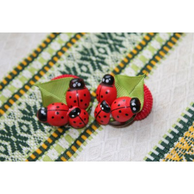"Hairclip (pair) ""Lady Bug New"""